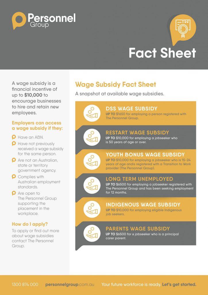 Wage Subsidy Factsheet v2 Thumbnail